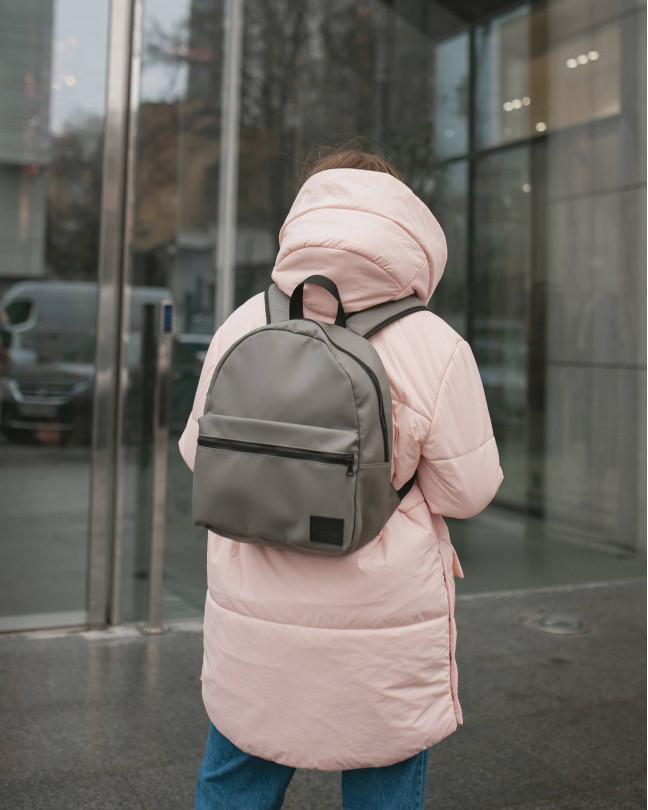 """Day Pack Mini"" экокожа, серый"