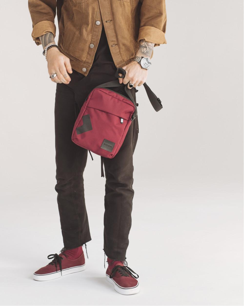 """Messenger City Bag"" поліестер, бордо"