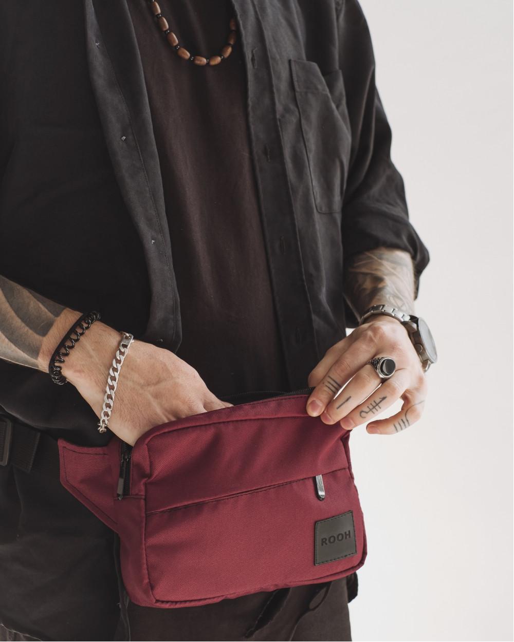 """City Bag Mini"" поліестер, бордо"