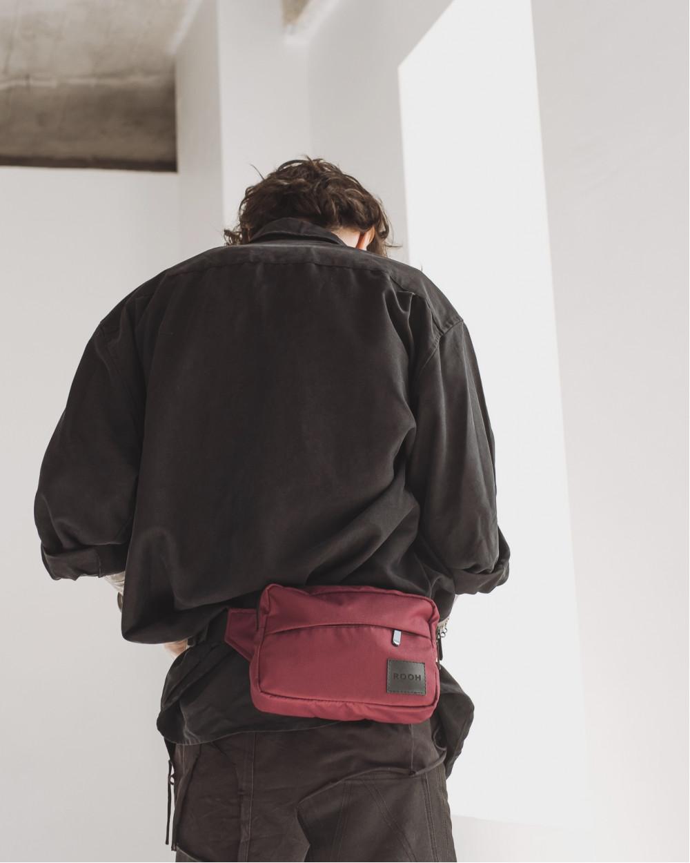 """City Bag Mini"" полиэстер, бордо"