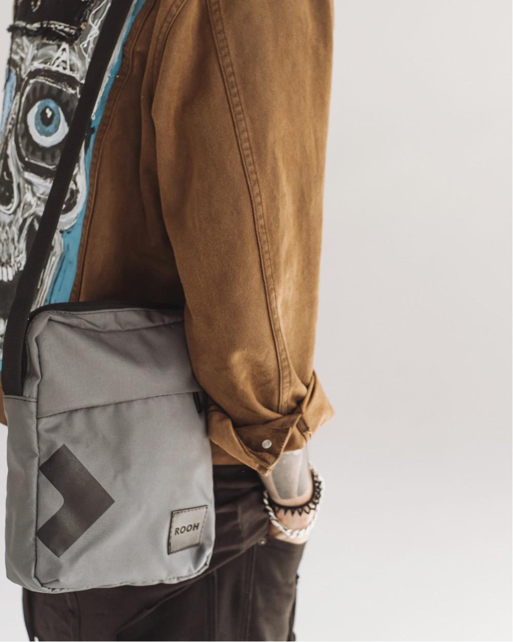 """Messenger City Bag"" полиэстер, серый"
