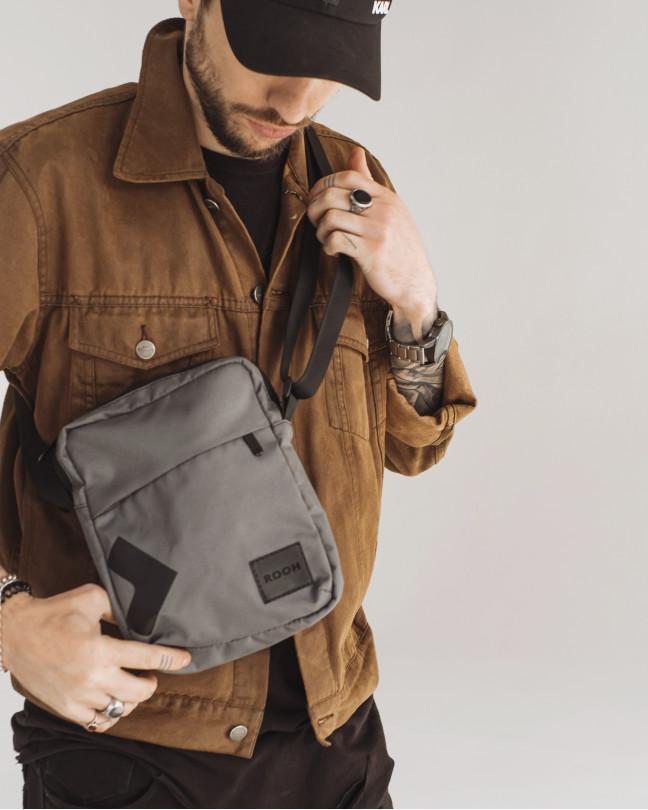 """""""Messenger City Bag"""" поліестер, cірий"""