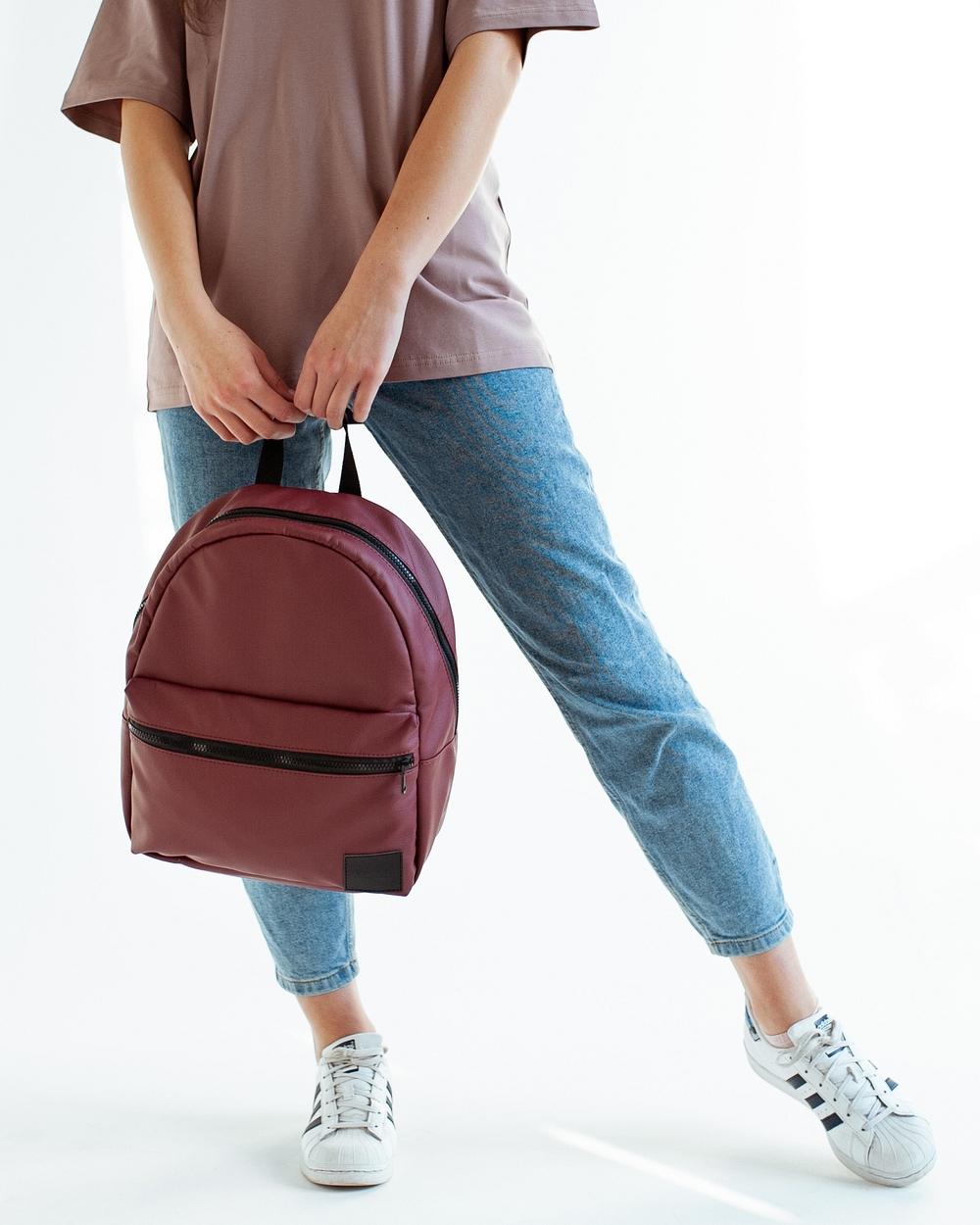 """Day Pack Mini"" экокожа, бордо"