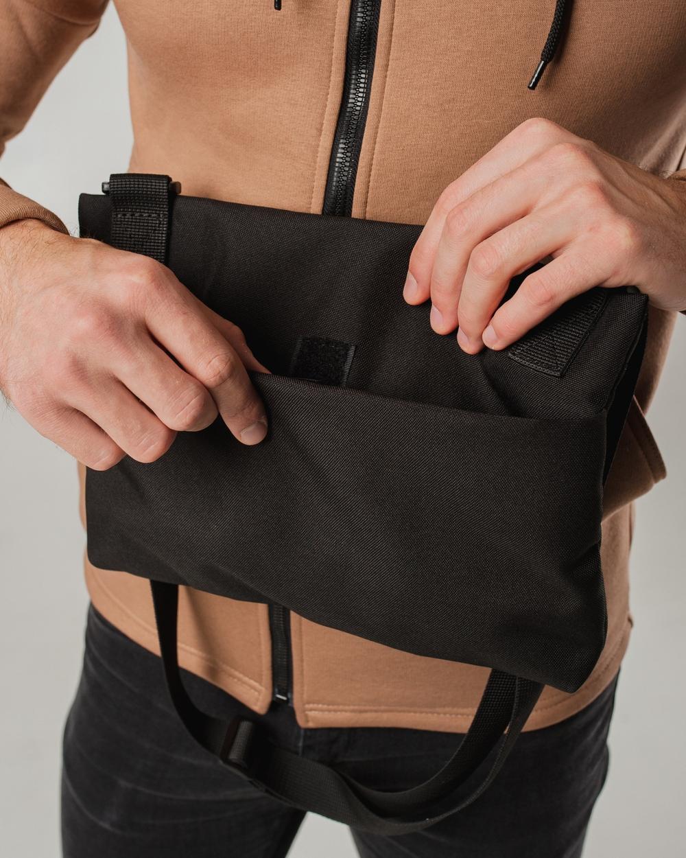 """Flat bag"" поліестер, чорна"