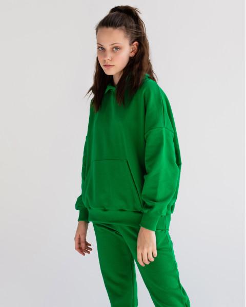 Худи Базовое Зеленое