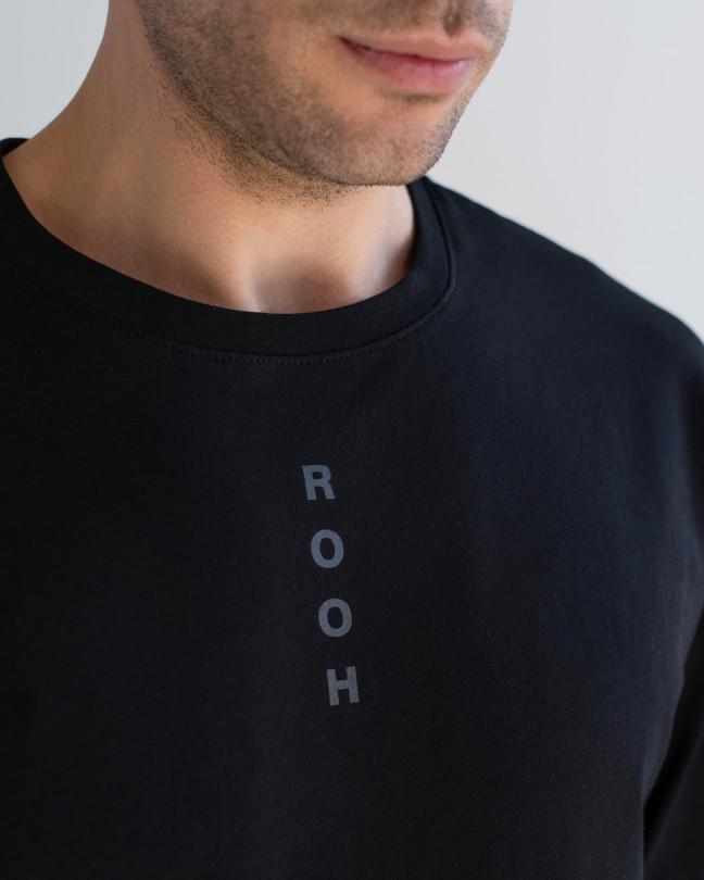 "Футболка Basic чорна, принт ""Rooh"""
