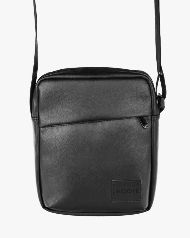 """Messenger City Bag"" екошкіра, чорний"