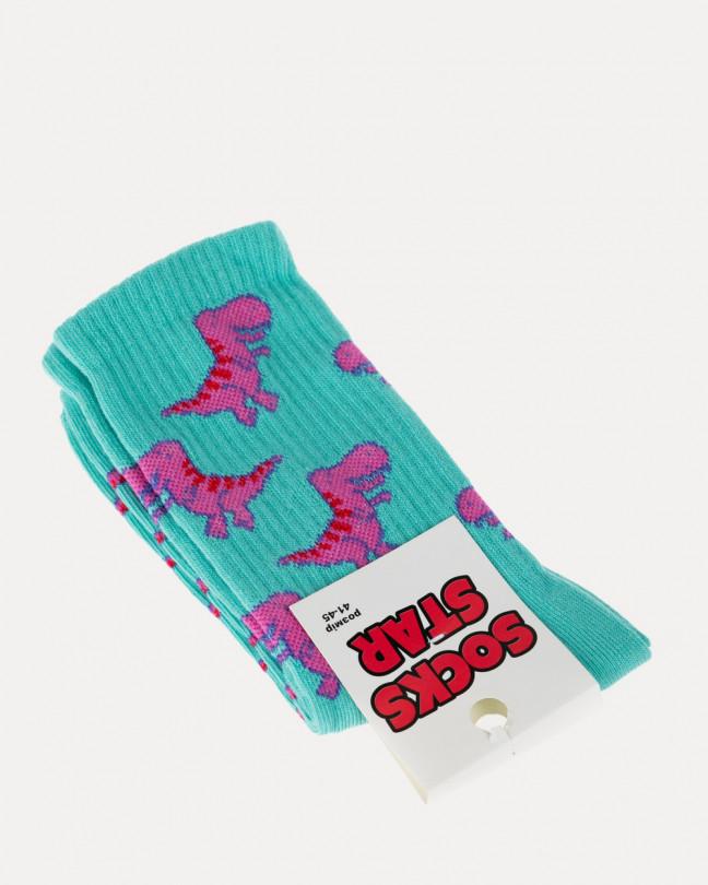 """Носки """"Dino"""", бирюзовые"""